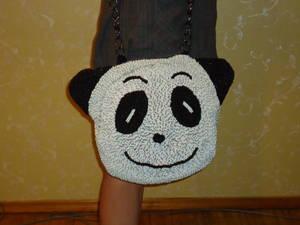 """Сумка  """"Панда """" из бисера."""