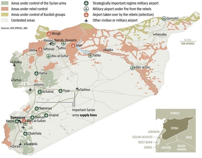 Ситуационная карта по всей Сирии