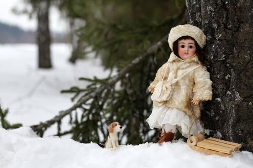 Антикварная ранняя кукла Kestner с закрытым ротиком